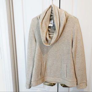 J.CREW Cowl neck oatmeal front pocket sweatshirt